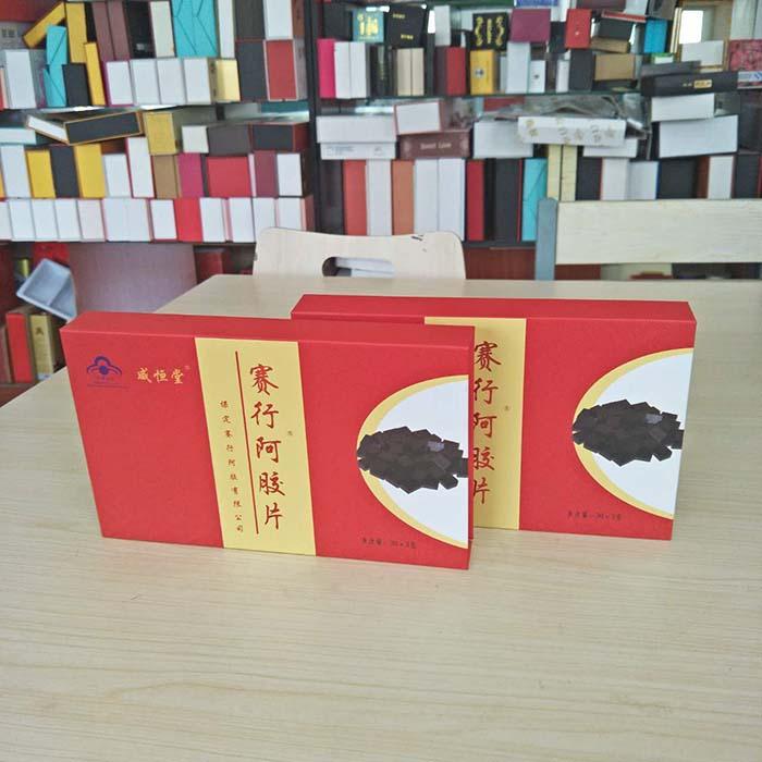 阿胶块礼品盒阿胶片精裱盒包装木盒子厂家供应支持订做