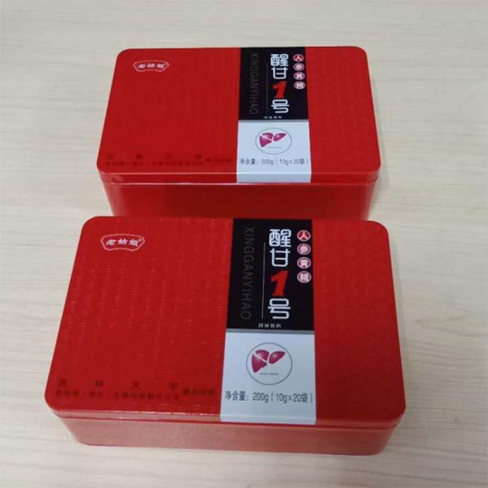 新款食品阿胶糕铁盒包装厂家供应支持定做